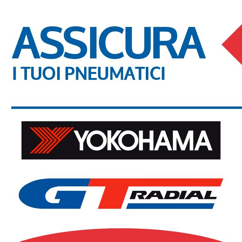 Assicurazione pneumatici Yokohama e GT Radial